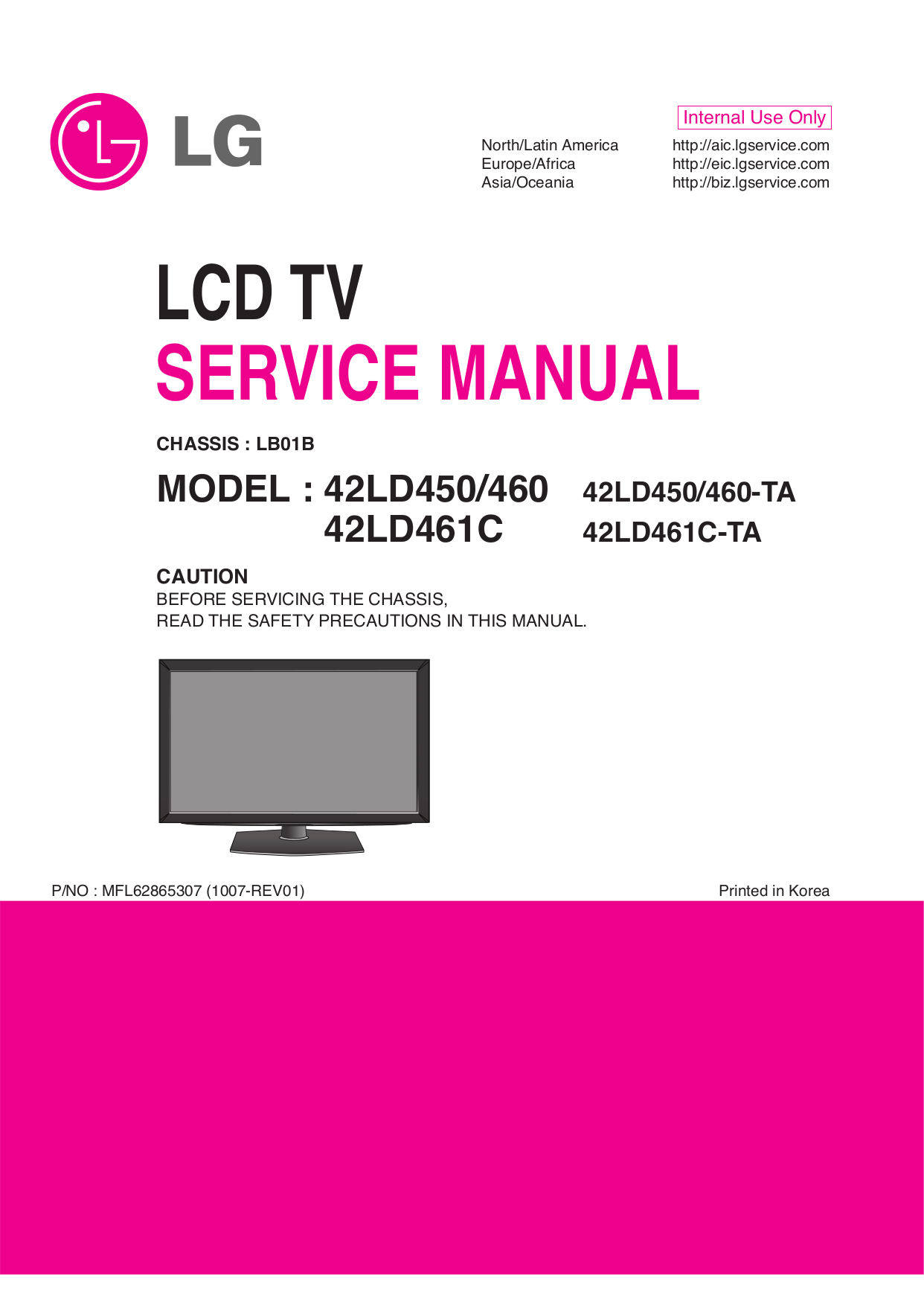 download free pdf for lg 42ld460 tv manual