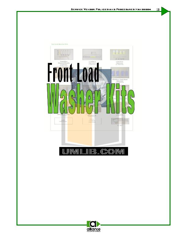 pdf for Frigidaire Washer ATFB7000ES1 manual