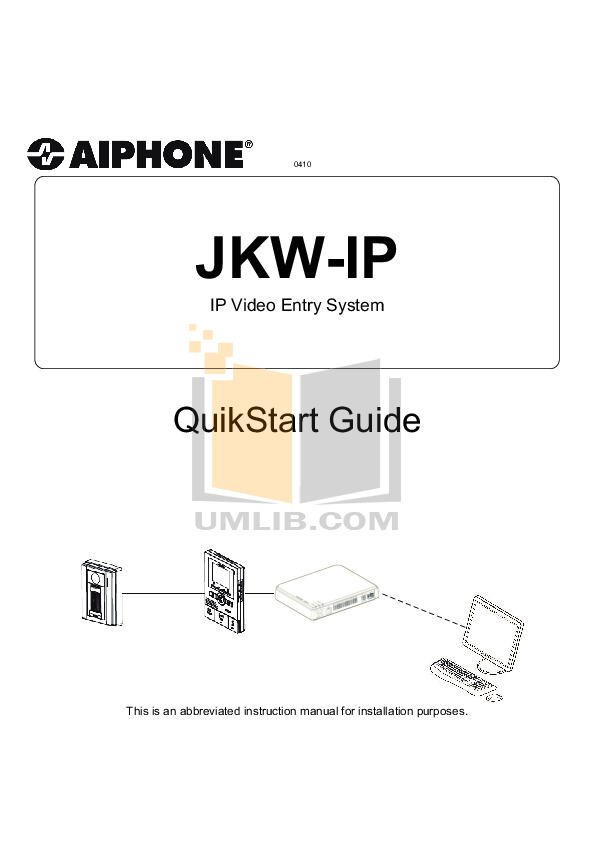pdf for Aiphone Other TC-20M Intercoms manual