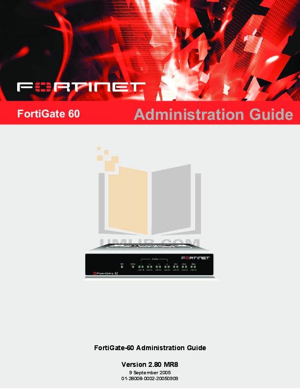 pdf for Fortinet Router FortiGate FortiGate-60R manual