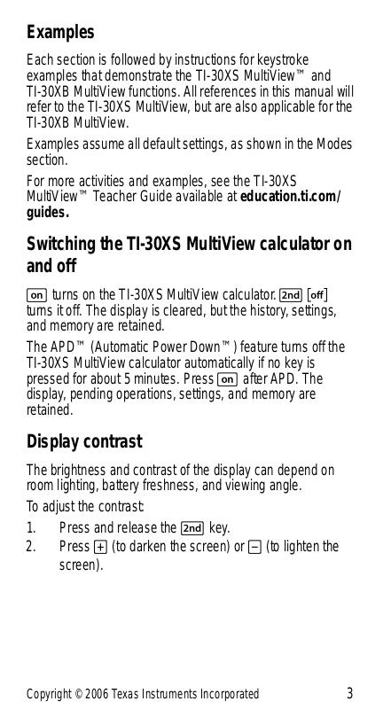 Pdf Manual For Ti Calculator Ti 30x Iis