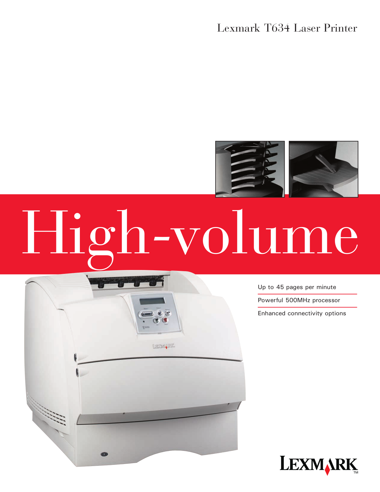 pdf for Lexmark Printer T634tn manual