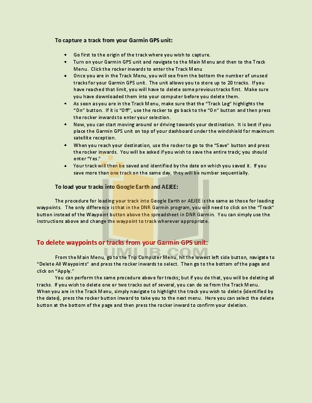 PDF manual for Garmin GPS eTrex eTrex H