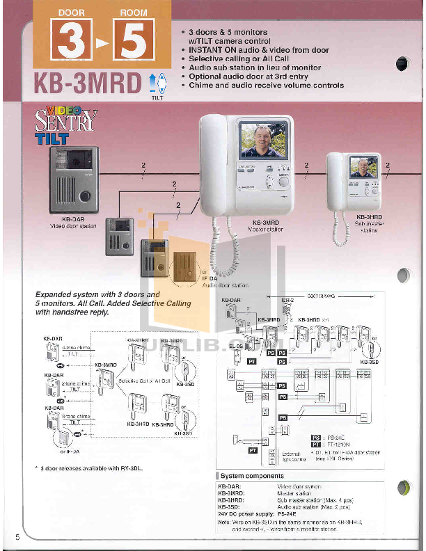 Download free pdf for Aiphone KB-3HRD Intercoms Other manual on aiphone intercom systems, aiphone ry 2.4l, aiphone lem-1dl control door release,