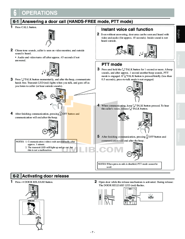 Aiphone Other IB-NA Intercoms pdf page preview