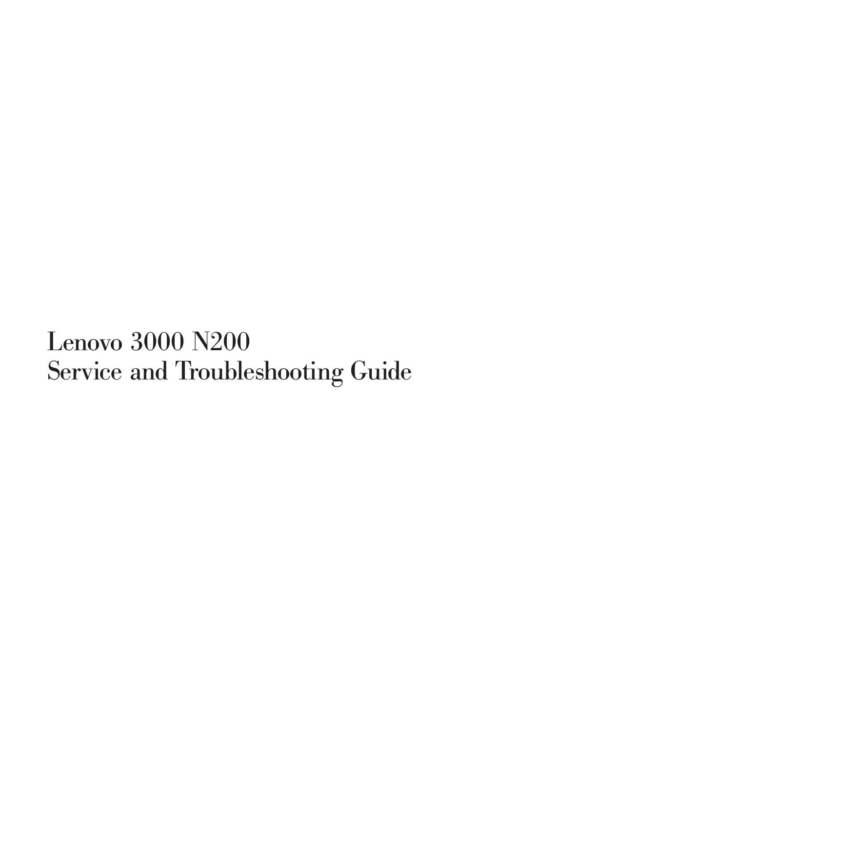 download free pdf for lenovo 3000 n200 0769 laptop manual rh umlib com Lenovo N500 Memory Lenovo 3000 N200