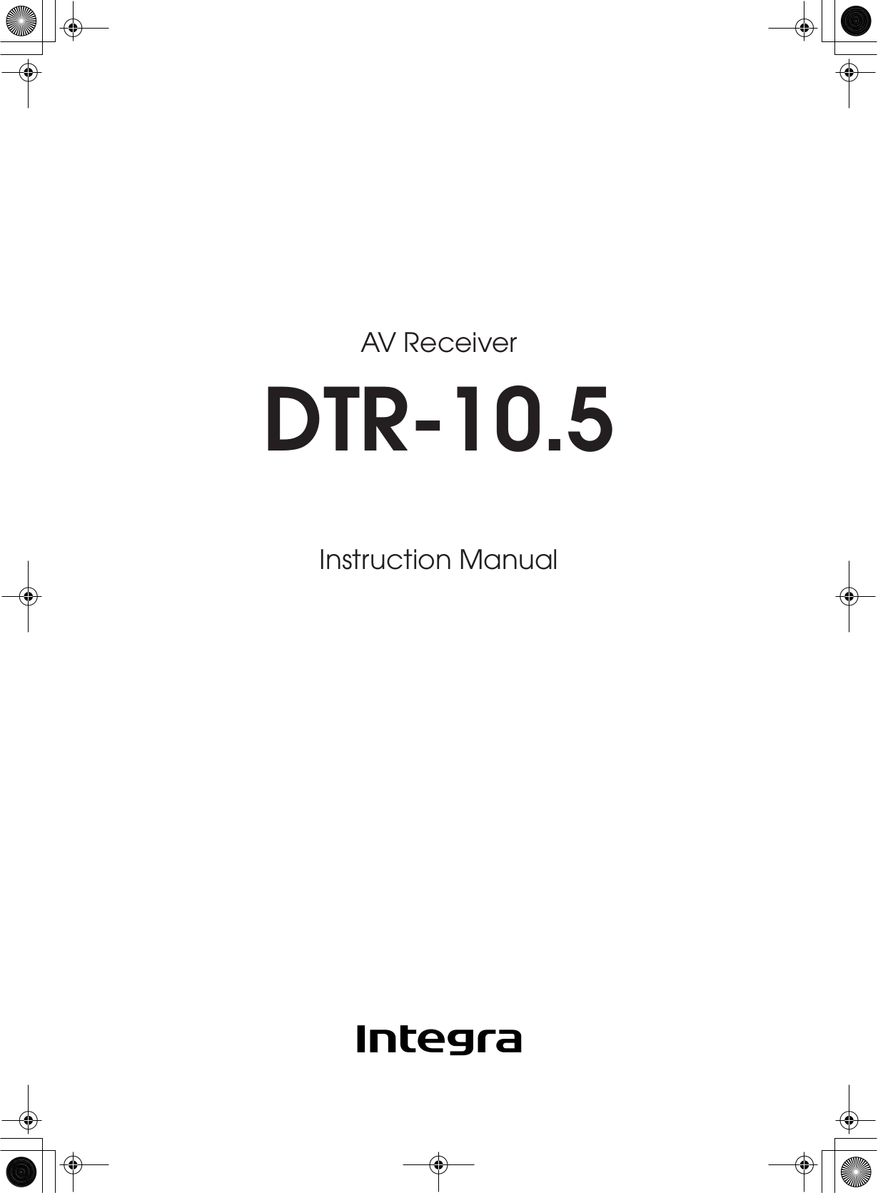 Integra Receiver DTR-10.5 pdf page preview