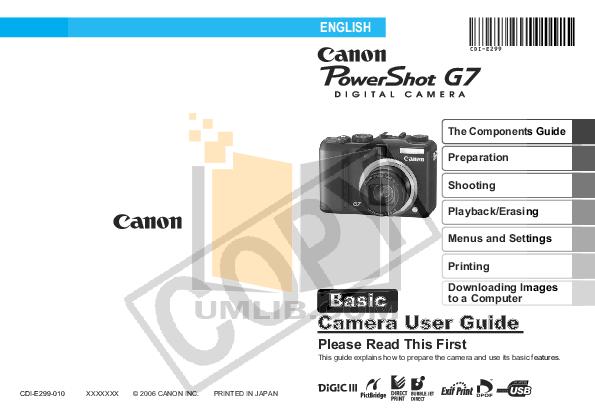 powershot g7 manual