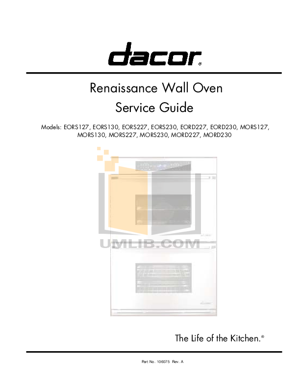 Dacor Epicure Wall Oven Manual Wall Design Ideas
