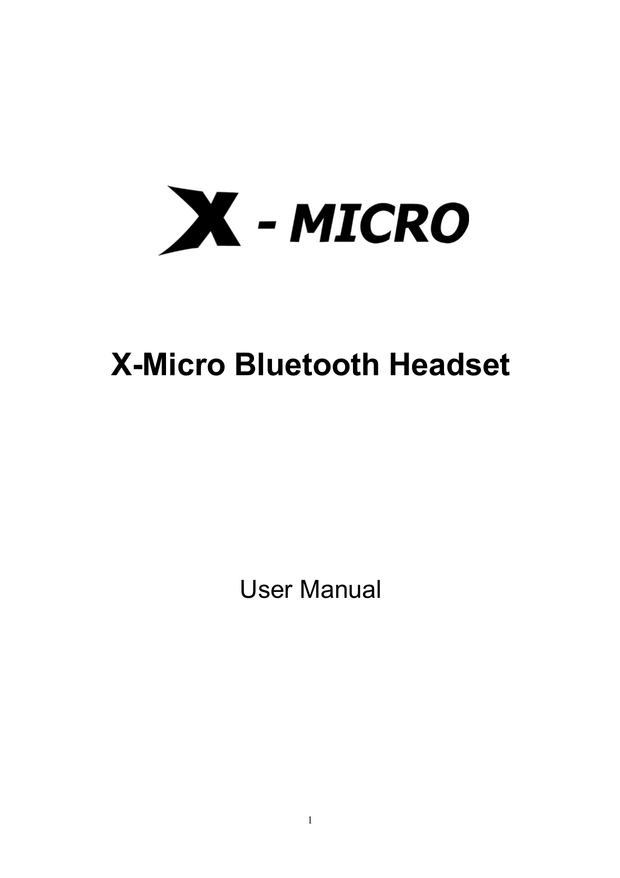 pdf for X-Micro Headset XBT-HS2A manual