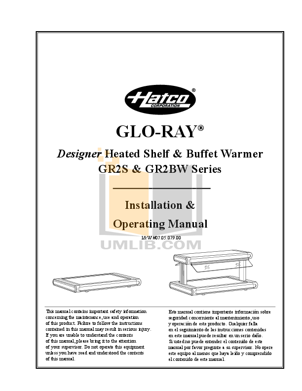 pdf for Hatco Other GR2S-30 manual