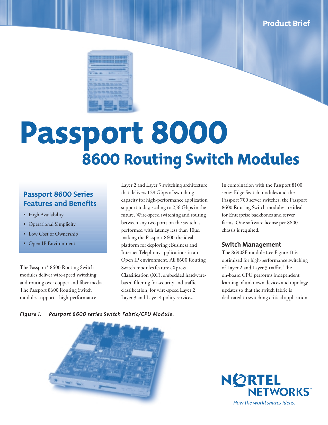 Download free pdf for Nortel Passport 8010 Switch manual