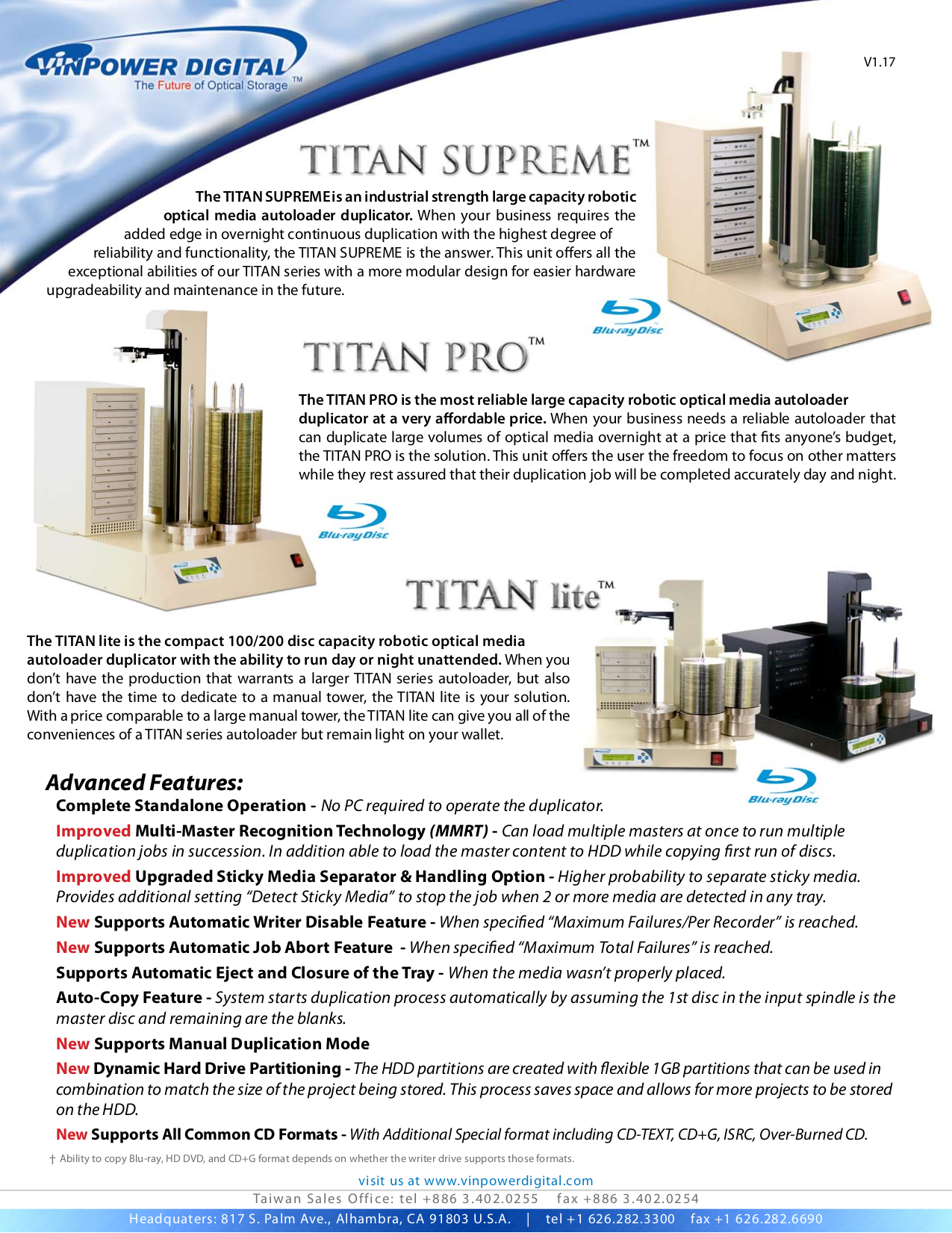 pdf for Vinpower Other TITAN SUPREME Robotic Autoloaders manual