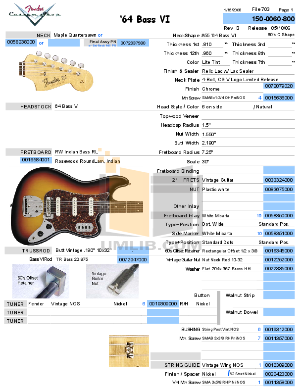 Fender CS 1964 Bass VI reissue build spec.pdf 0 wat download free pdf for fender bass vi guitar manual fender bass vi wiring diagram at reclaimingppi.co