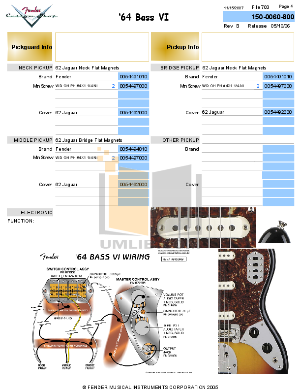Fender CS 1964 Bass VI reissue build spec.pdf 3 wat fender vi wiring diagram diagram wiring diagrams for diy car repairs fender bass vi wiring diagram at reclaimingppi.co