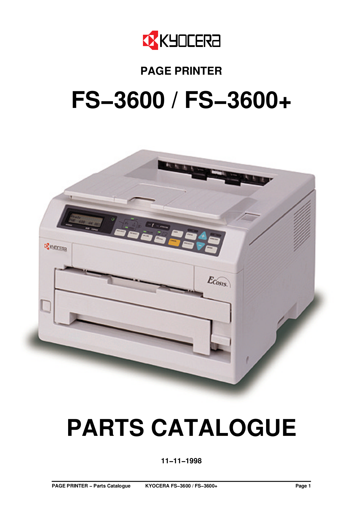kyocera fs 1016mfp multifunction printer service repair manual parts list service bulletin