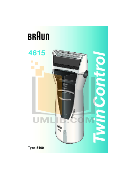 pdf for Braun Other TwinControl 4615 Shavers manual