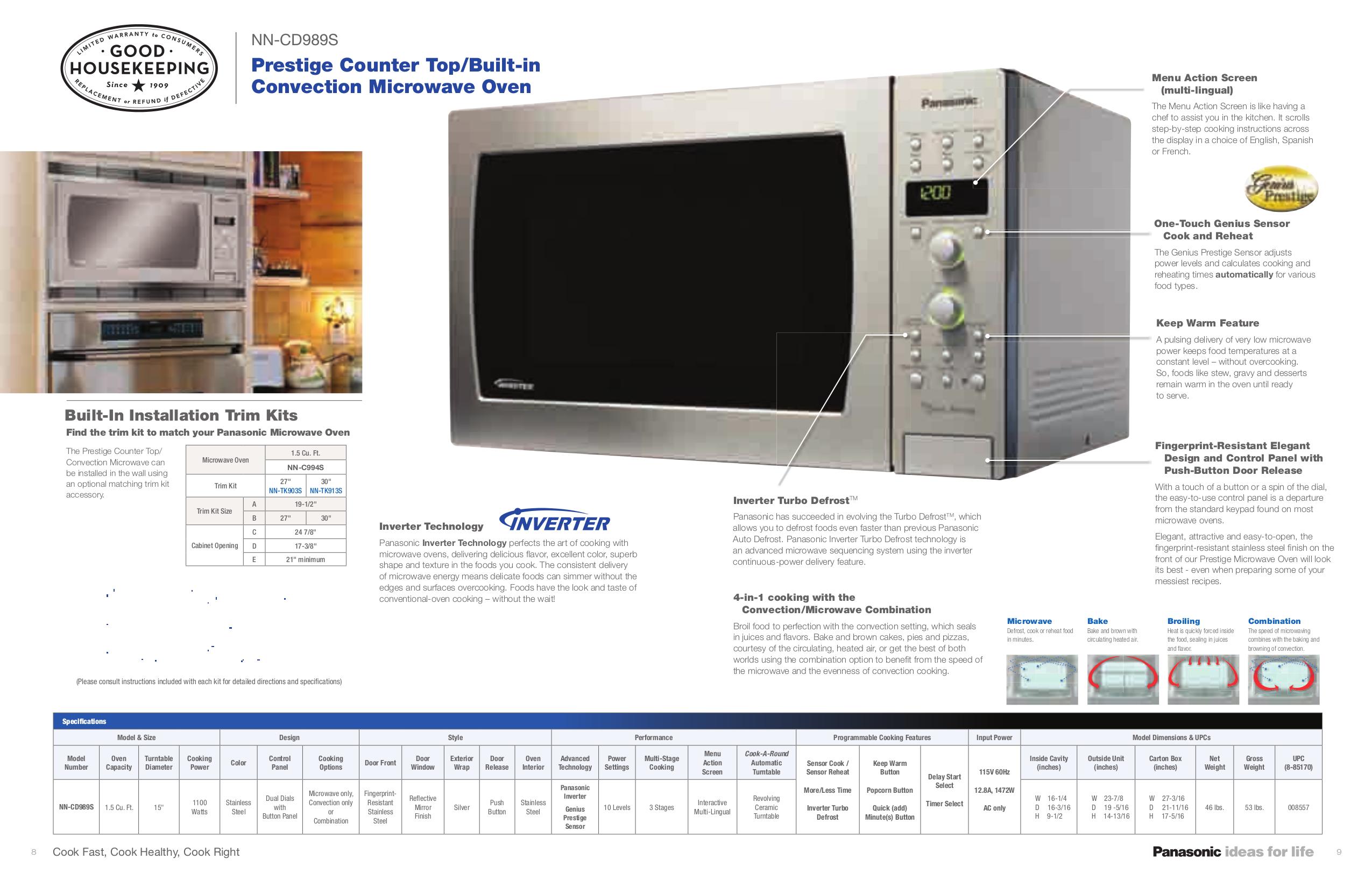 Panasonic Microwave Nn Sd997s Bestmicrowave