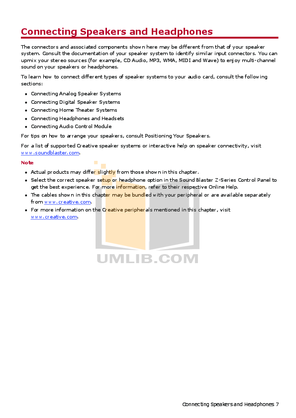 PDF manual for Creative Other SoundBlaster Audigy 2 sound card