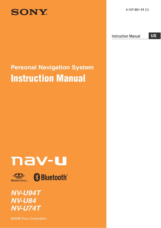 download free pdf for sony nv u94t gps manual rh umlib com Sony Nav-U GPS Sony Nav-U GPS