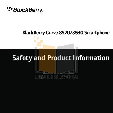 pdf for Blackberry Cell Phone Curve 8520 manual