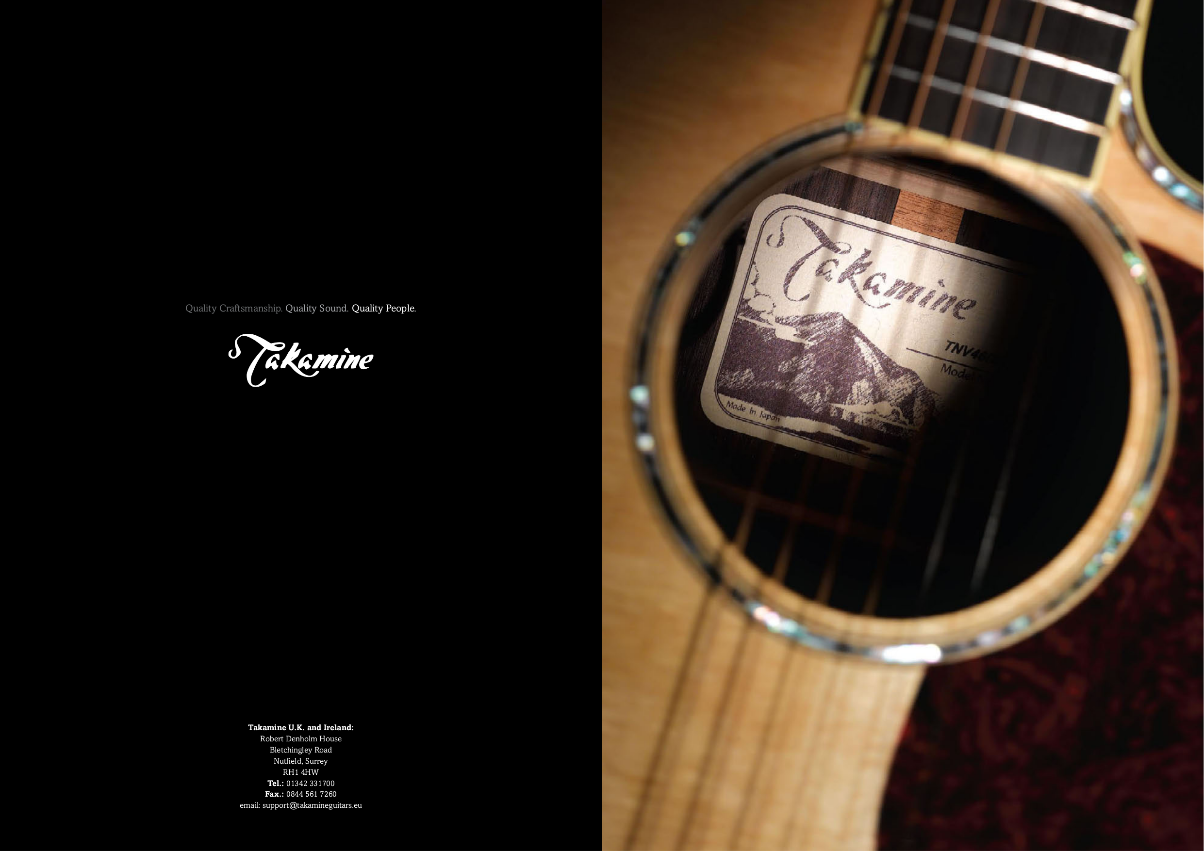pdf for Takamine Guitar EF340SC manual