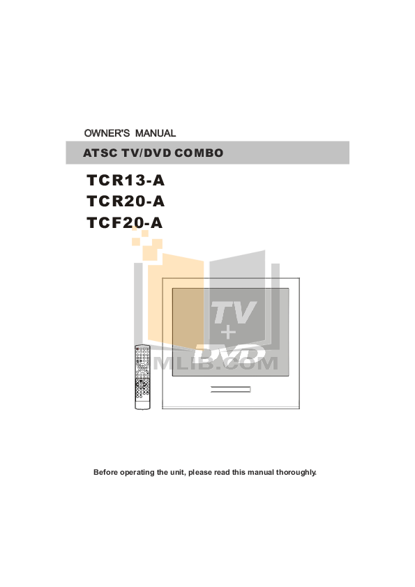 pdf for Haier TV TCF20-A manual
