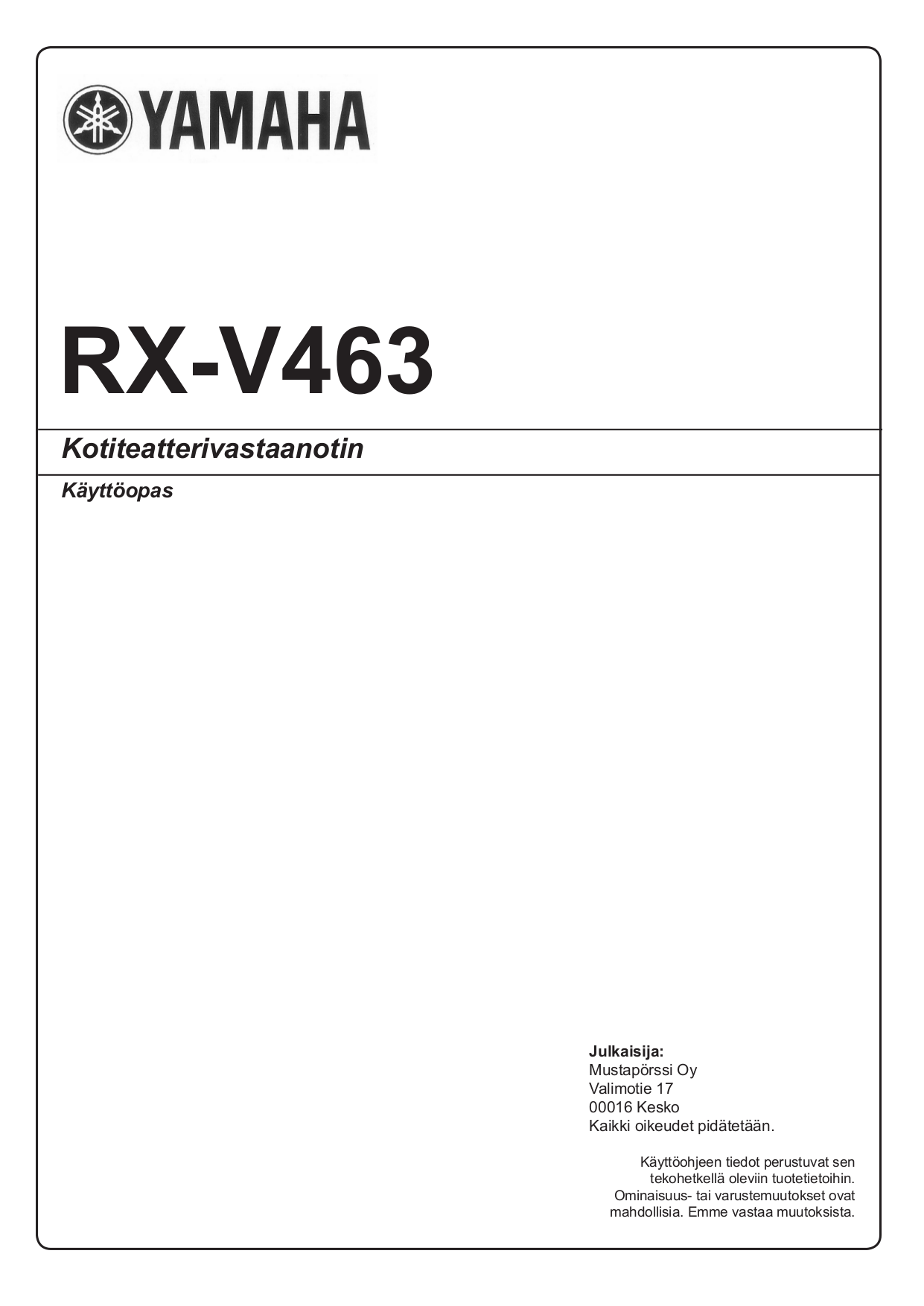 download free pdf for yamaha rx v463 receiver manual rh umlib com yamaha rx v463 manuel yamaha rx v463 manuel