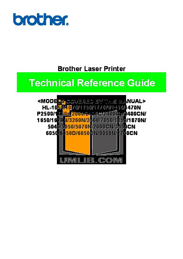 pdf for Brother Printer HL-1230 manual