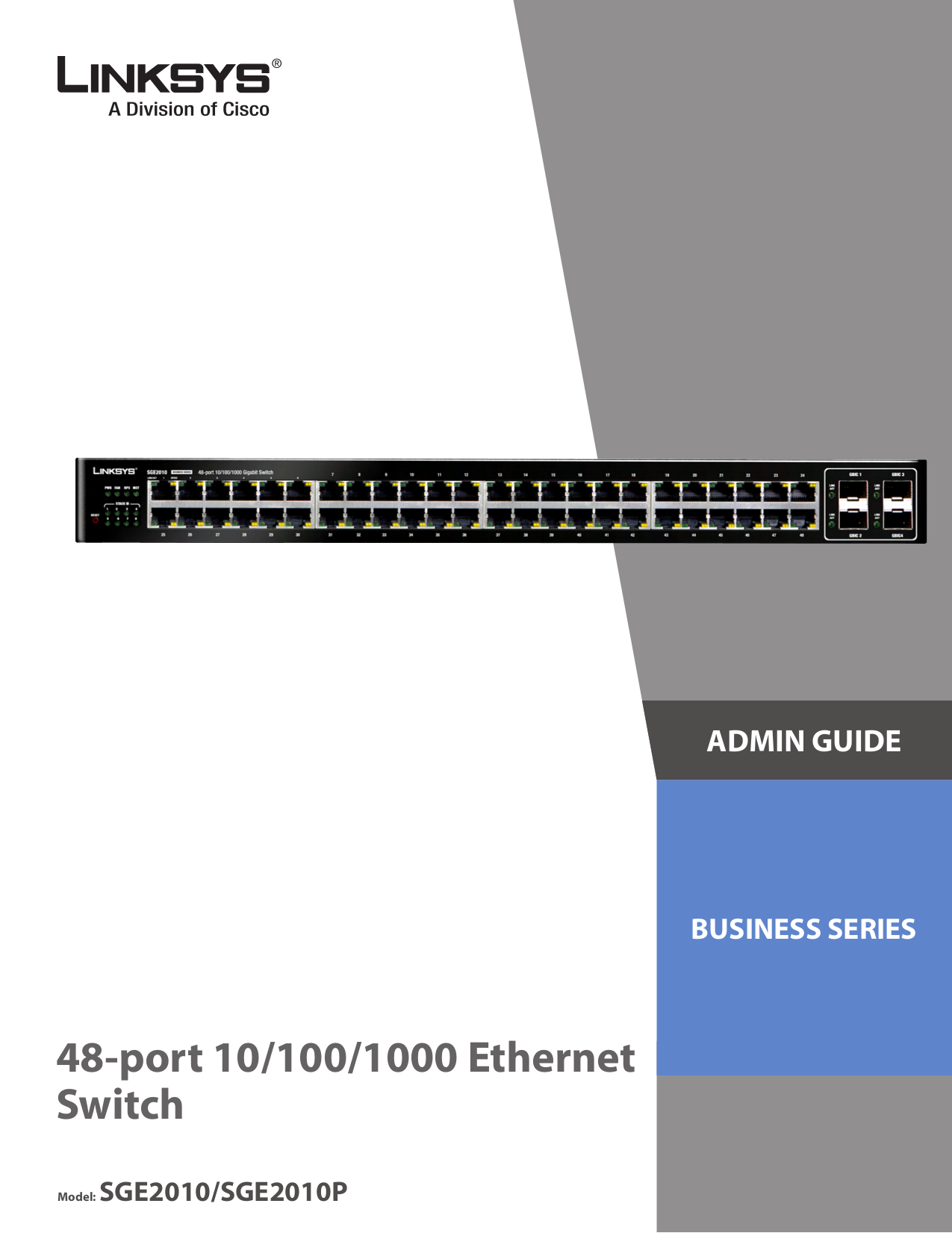 pdf for Linksys Switch SGE2010P manual