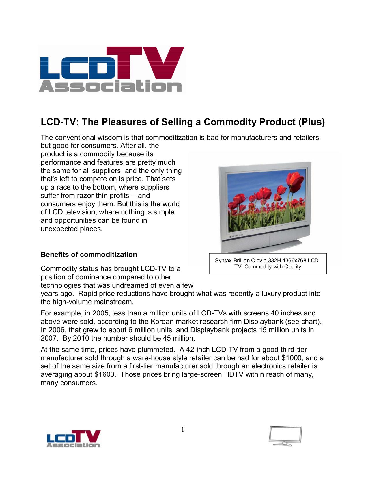 pdf for Olevia Monitor 332H manual