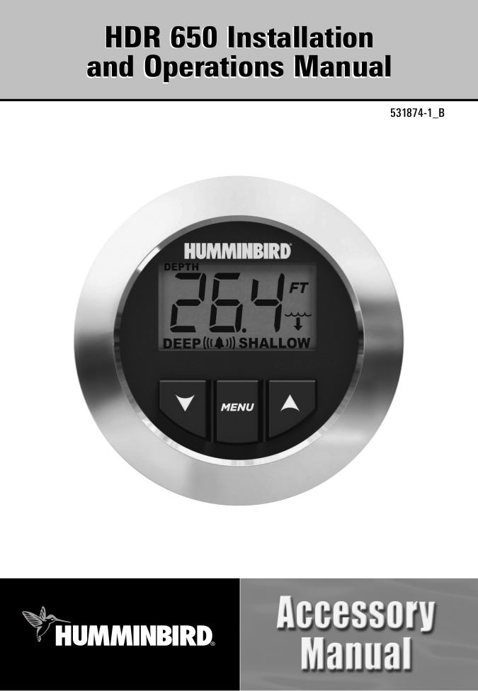 Humminbird Other HDR 200 Transducer pdf page preview