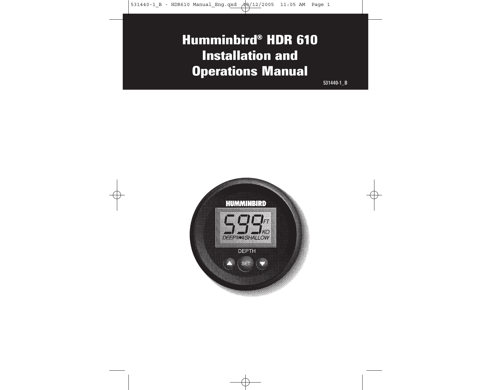 pdf for Humminbird Other HDR 200 Transducer manual
