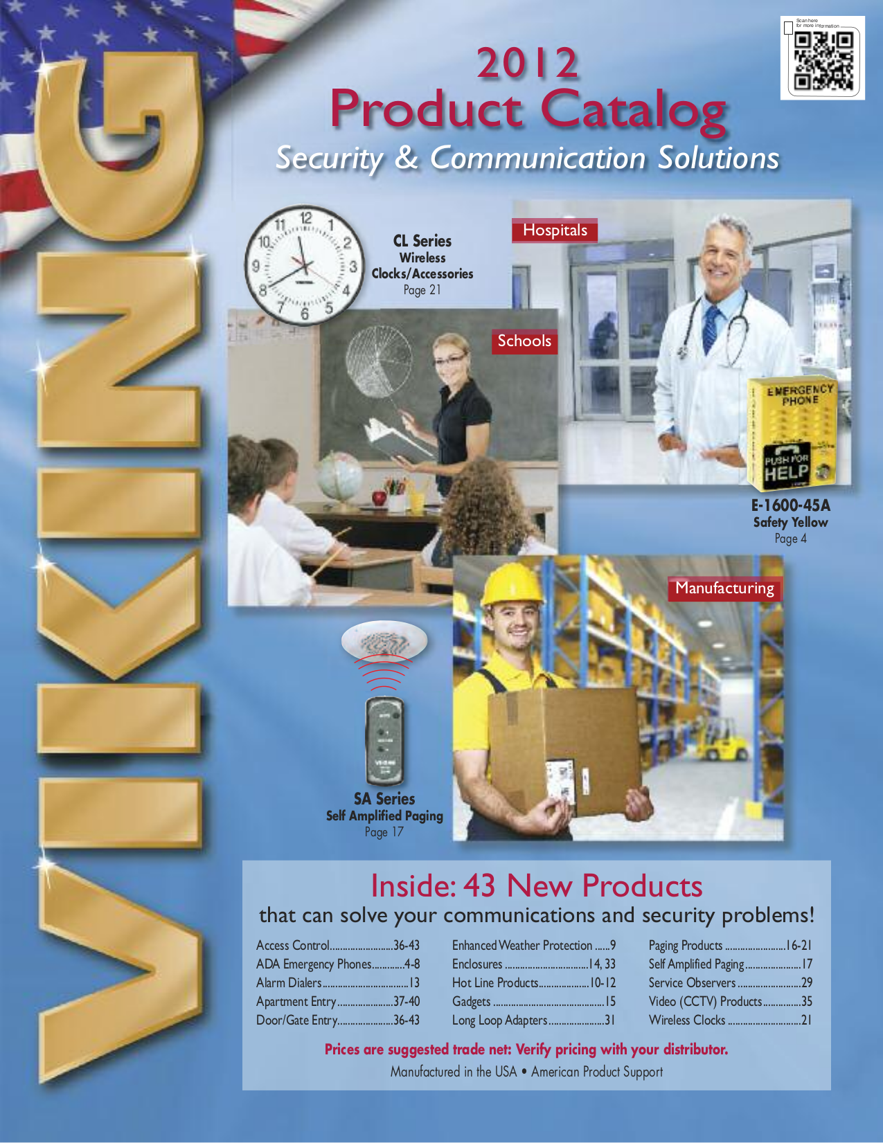 pdf for Viking Other K-1500-7 Panel Phones manual