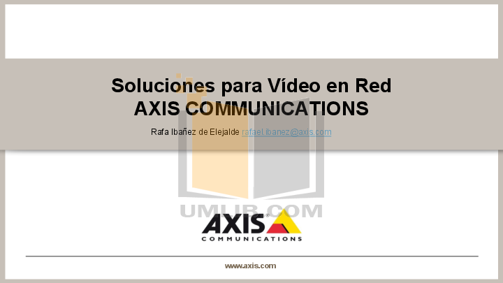 pdf for Axis Security Camera P3346-V manual