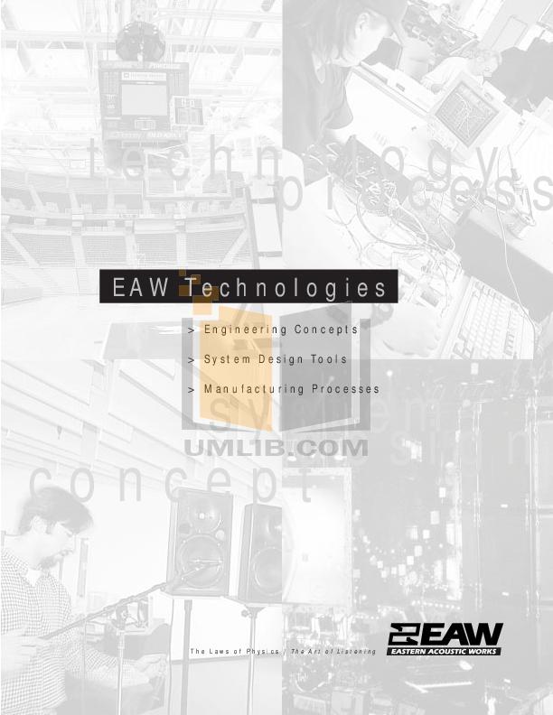 pdf for Eaw Speaker System KF860 manual