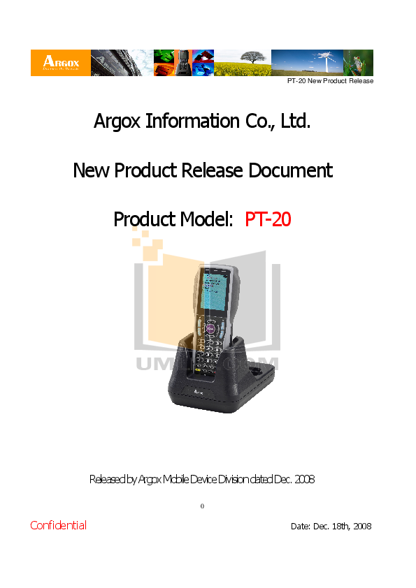 pdf for Argox PDA PT-80 manual