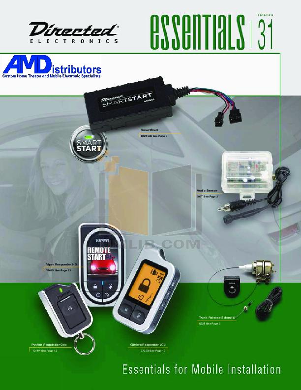 download free pdf for dei avital avistart 4400 car alarms other manual rh umlib com