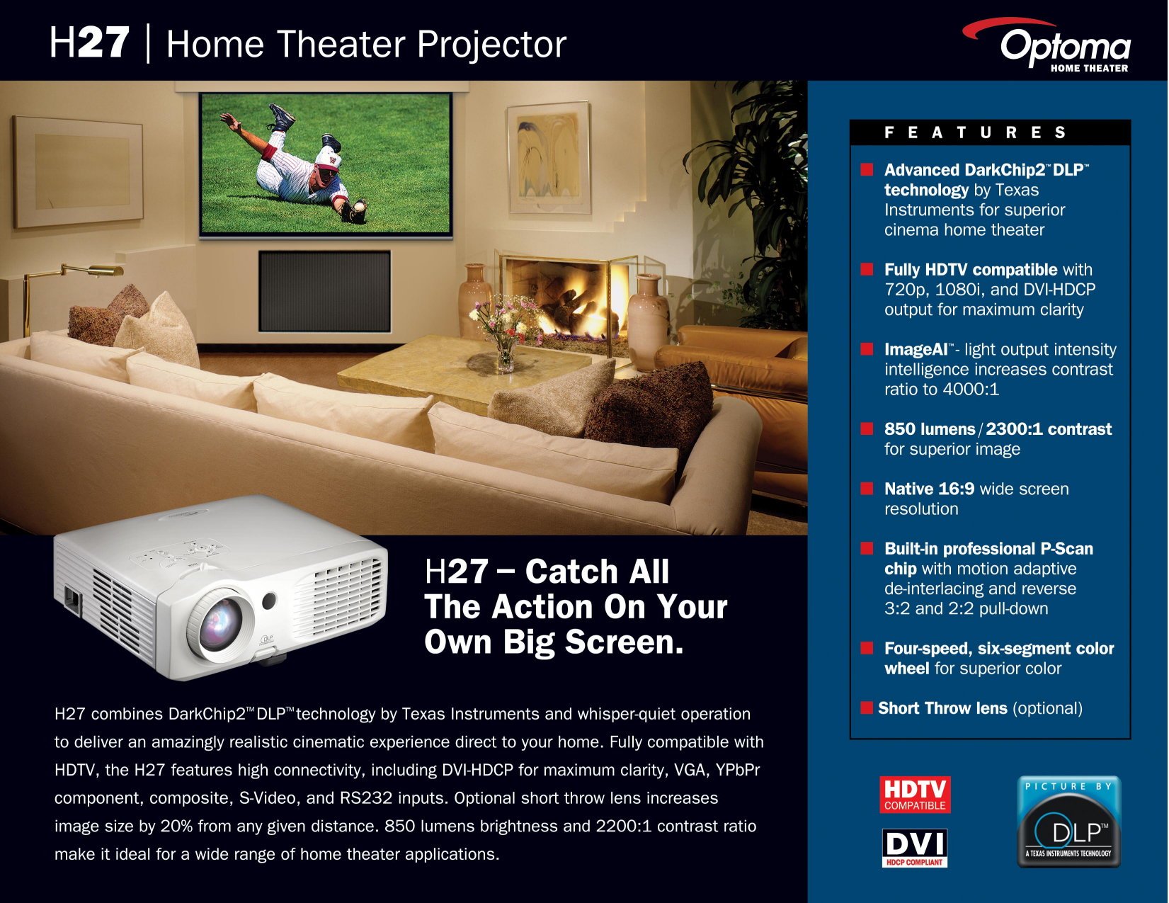pdf for Optoma Projector H27 manual