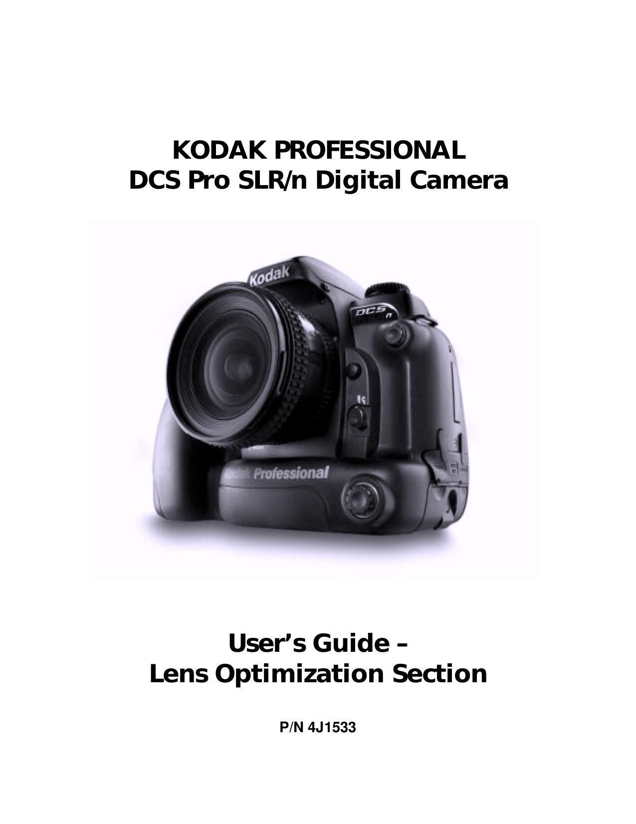 pdf for Kodak Digital Camera DCS Pro SLR-N manual