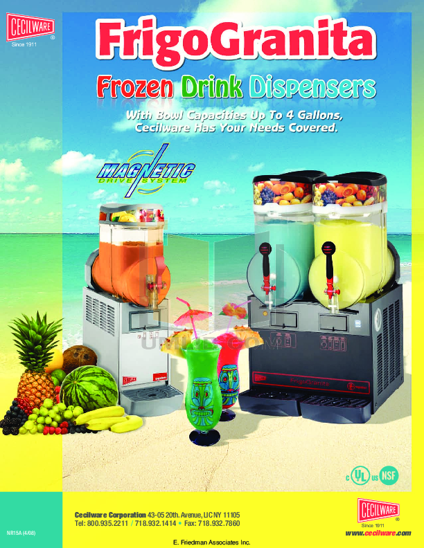 pdf for Cecilware Other MT-3-UL-BL Dispensers manual