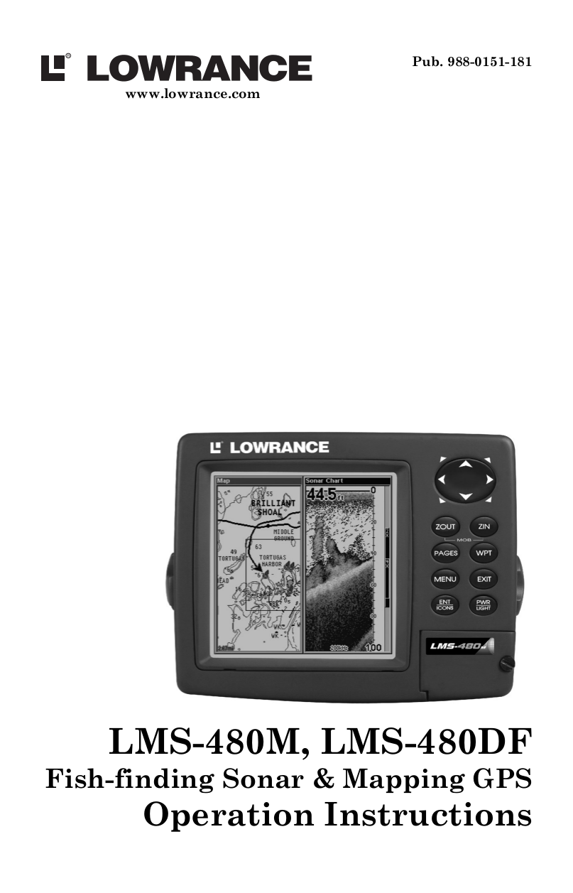 pdf for Lowrance GPS LMS-160 MAP manual