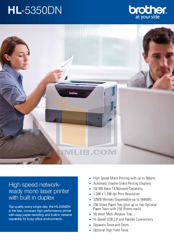 pdf for Brother Printer HL-5350DN manual