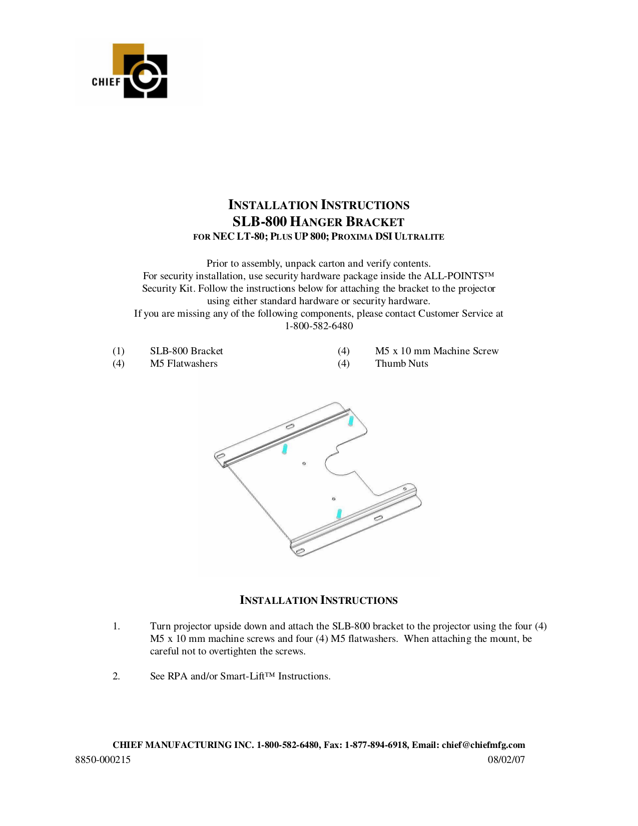 Download free pdf for NEC LT80 Projector manual