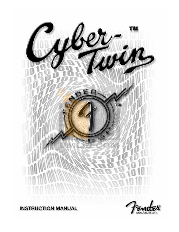 fender 68 custom twin reverb manual