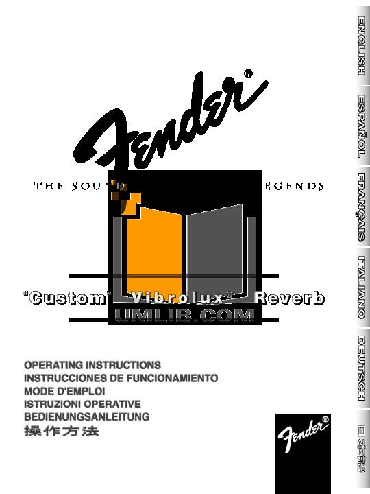 download free pdf for fender custom vibrolux reverb amp manual rh umlib com fender deluxe reverb manuel custom vibrolux reverb manual