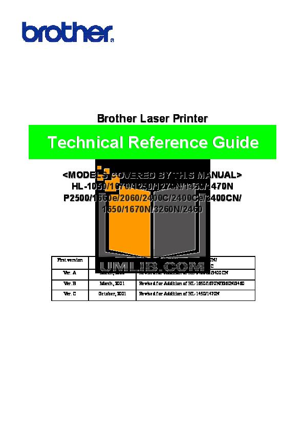 pdf for Brother Printer HL-1450 manual