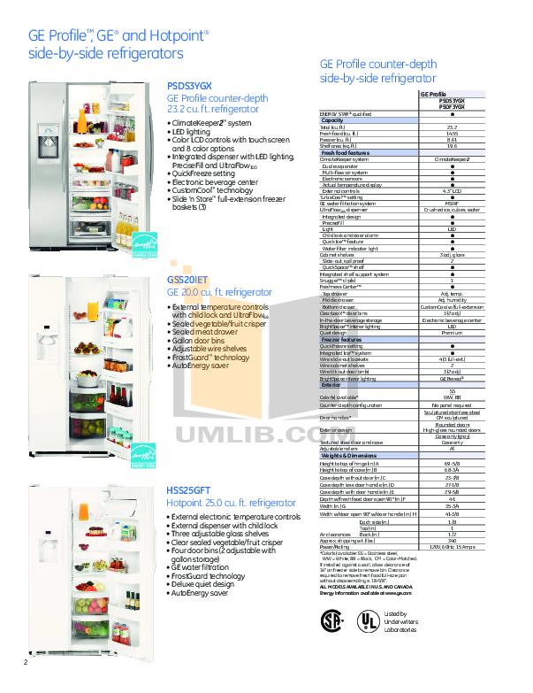 Hotpoint Range RGB533DEP pdf page preview