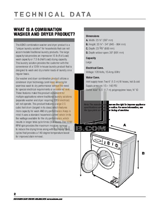 asko 1805 manual guide