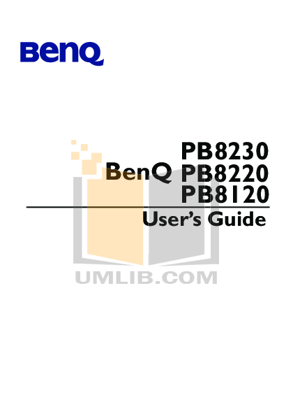 pdf for Benq Projector PB8220 manual